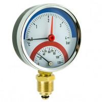 Termomanometer 0-4 bar radialni