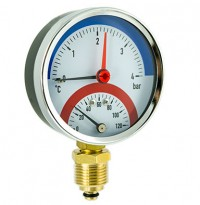Termomanometer 0-6 bar radialni