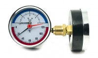 Termomanometer 0-4 bar aksialni