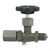 Manometrski ventil (črn) DIN 16270