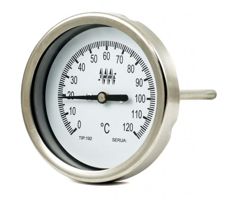 nerjavni termometer bimetalni 191H DN80